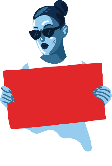 style woman with a poster images in PNG and SVG   Icons8 Illustrations