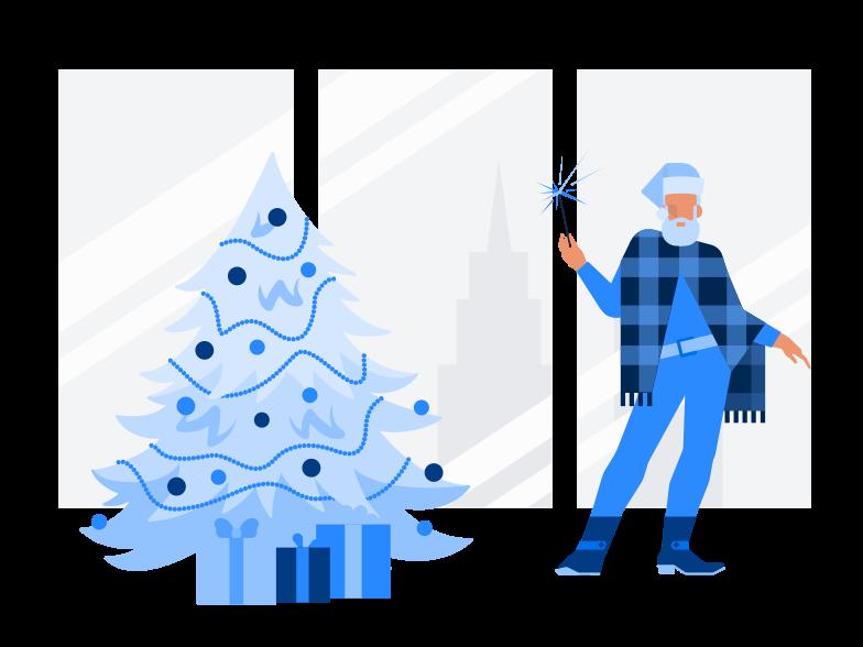Modern Santa Clipart illustration in PNG, SVG