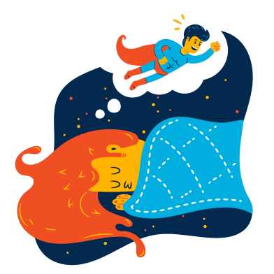 style Superhero dream images in PNG and SVG | Icons8 Illustrations