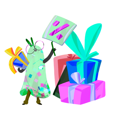 Иллюстрация Праздничная распродажа в стиле  в PNG и SVG | Icons8 Иллюстрации