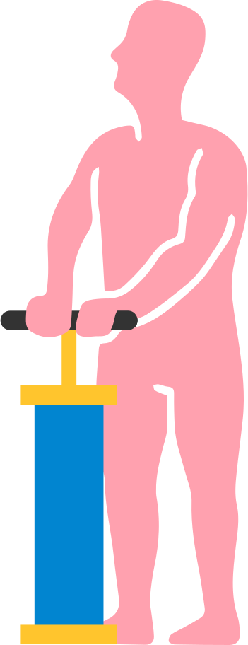 man with pump Clipart illustration in PNG, SVG