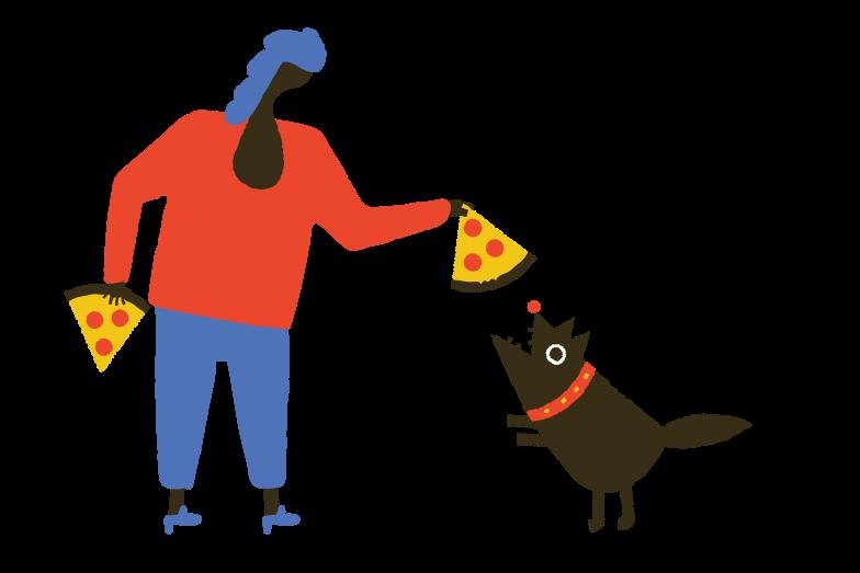 Style  les chiens aiment aussi la pizza Images vectorielles en PNG et SVG | Icons8 Illustrations
