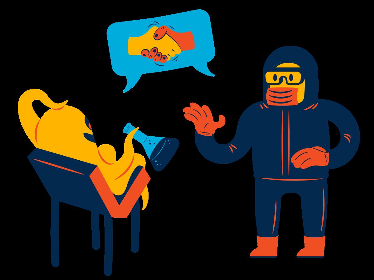 Alien science Clipart illustration in PNG, SVG