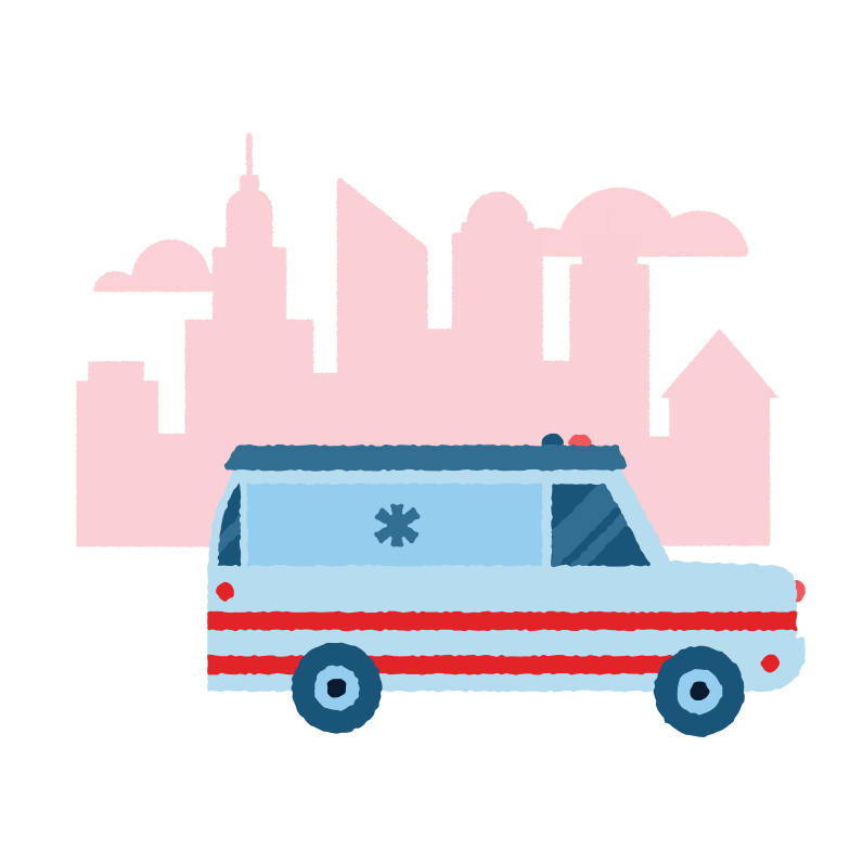 style Ambulance in a hurry Vector images in PNG and SVG | Icons8 Illustrations