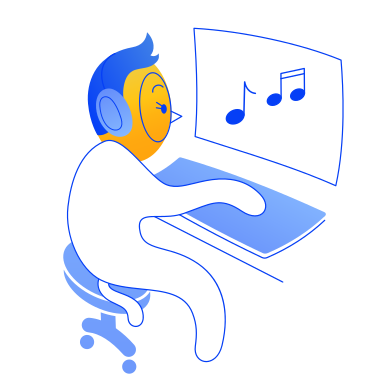 style Listening to music images in PNG and SVG | Icons8 Illustrations