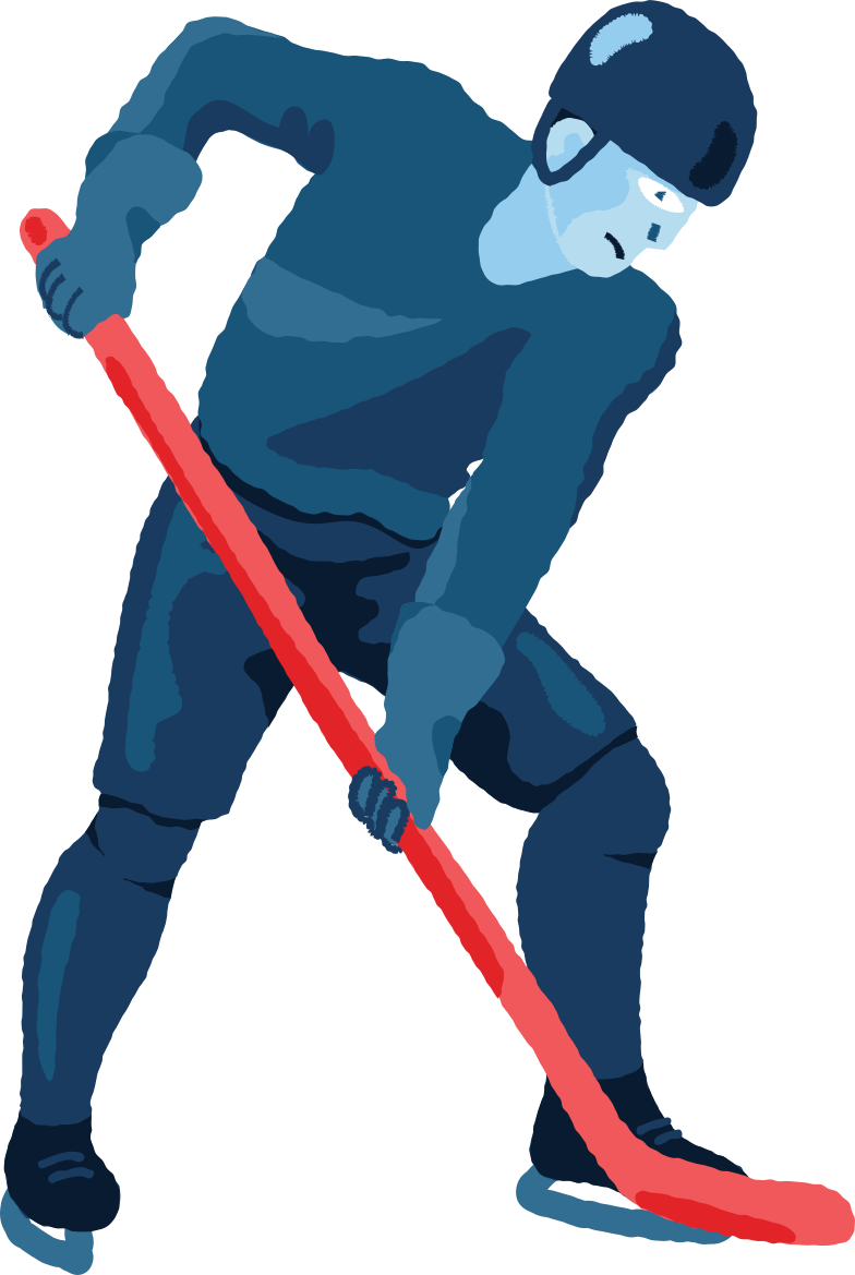 hockey player Clipart illustration in PNG, SVG