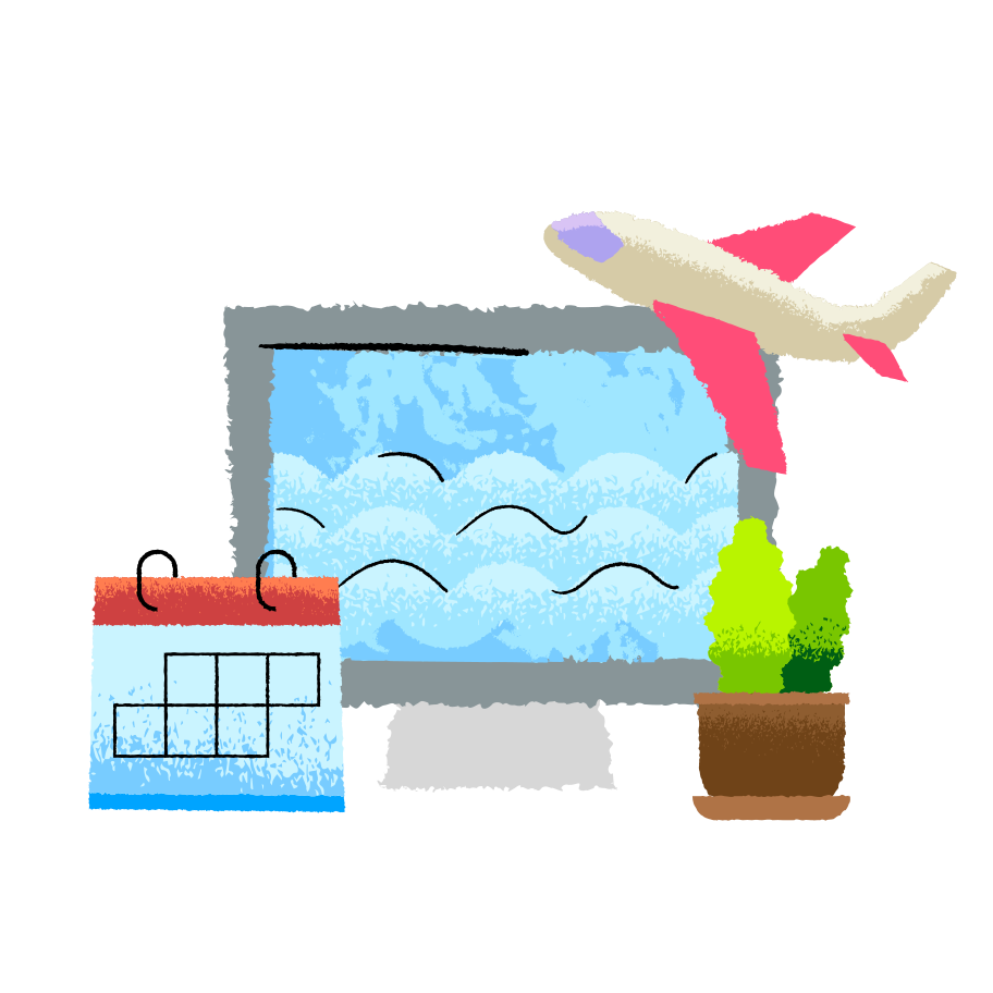 Vacation planning  Clipart illustration in PNG, SVG