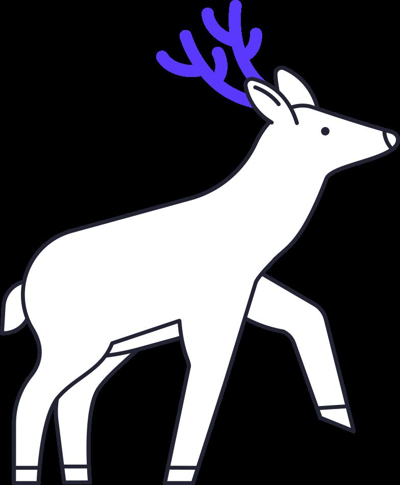reindeer Clipart illustration in PNG, SVG