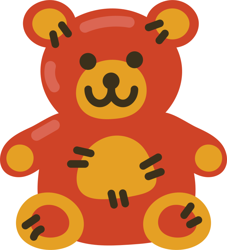 teddy bear Clipart illustration in PNG, SVG