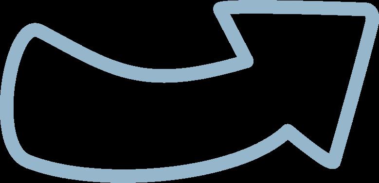 tk blue arrow up Clipart illustration in PNG, SVG