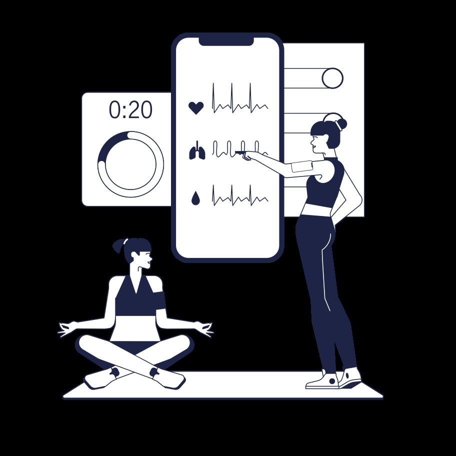 Fitness-gadgets Clipart-Grafik als PNG, SVG