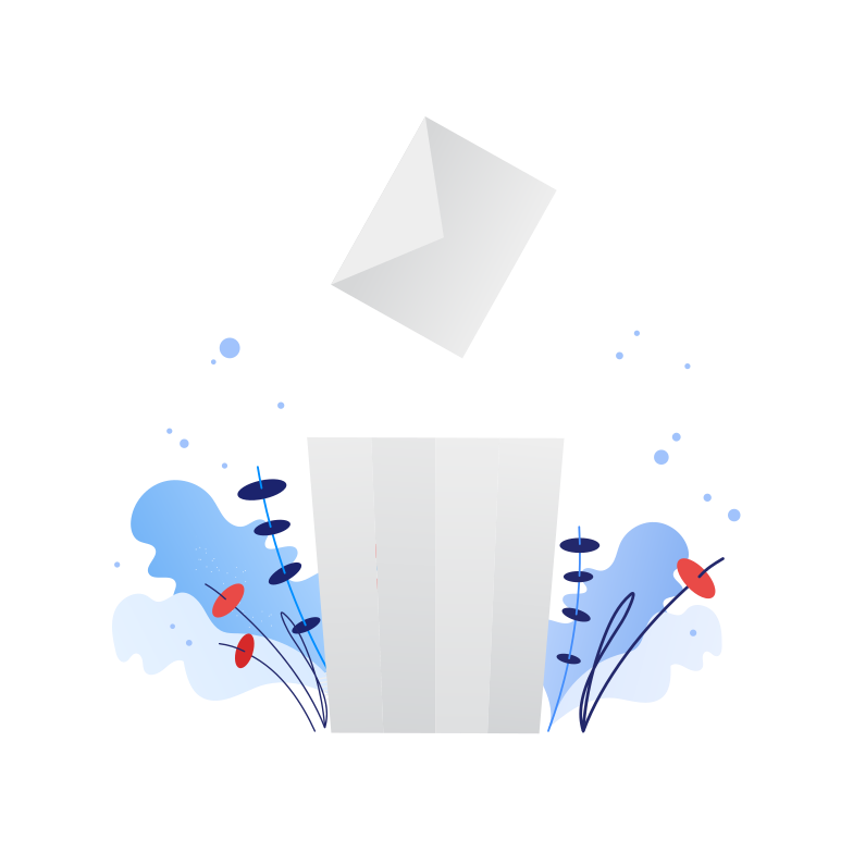 style Throw garbage in the trash Vector images in PNG and SVG | Icons8 Illustrations