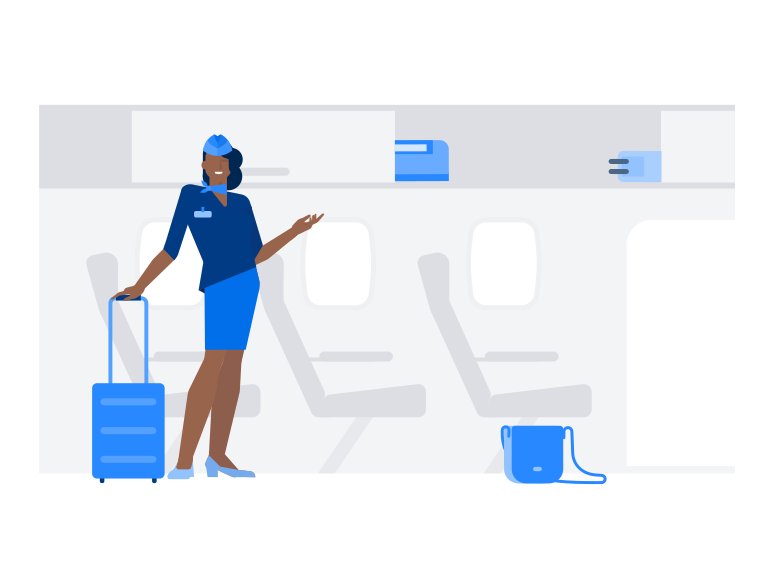 style Flight attendant Vector images in PNG and SVG | Icons8 Illustrations