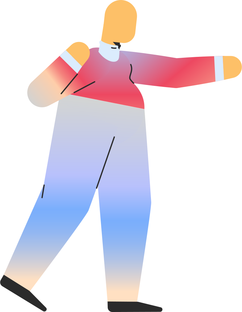 chubby adult pointing Clipart illustration in PNG, SVG