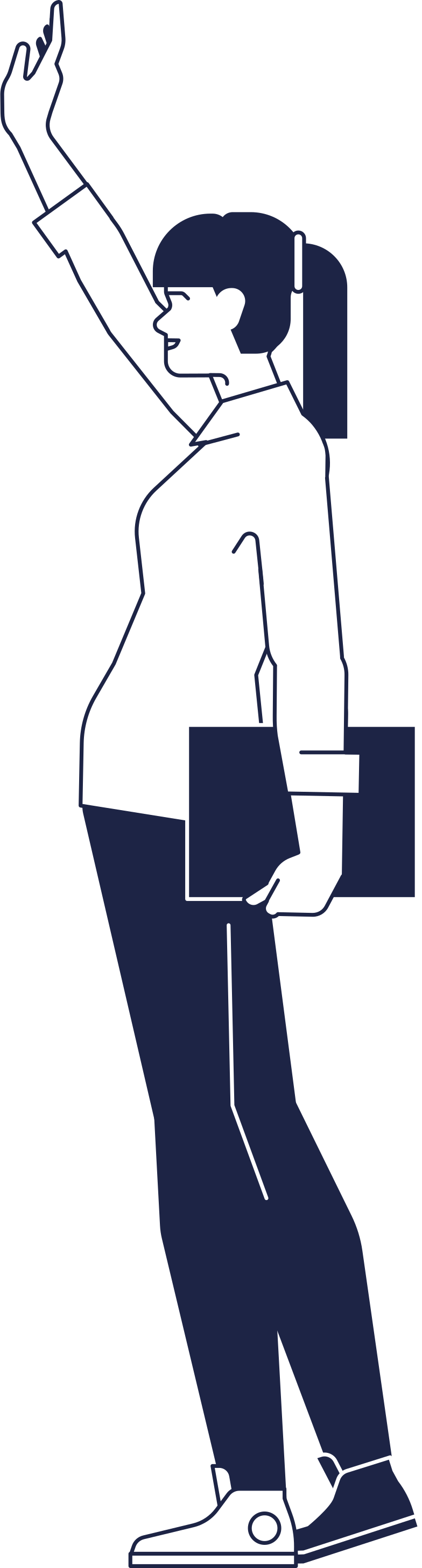 woman welcomes Clipart illustration in PNG, SVG