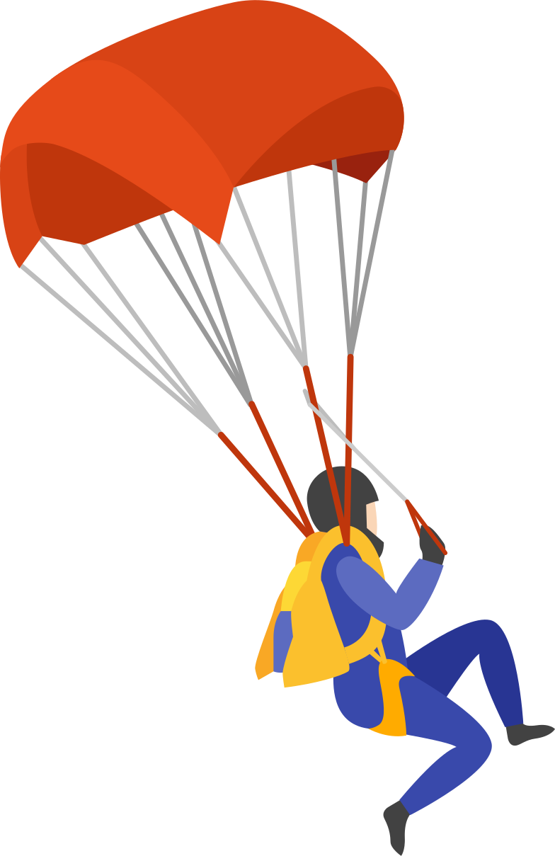 parachute jumper Clipart illustration in PNG, SVG