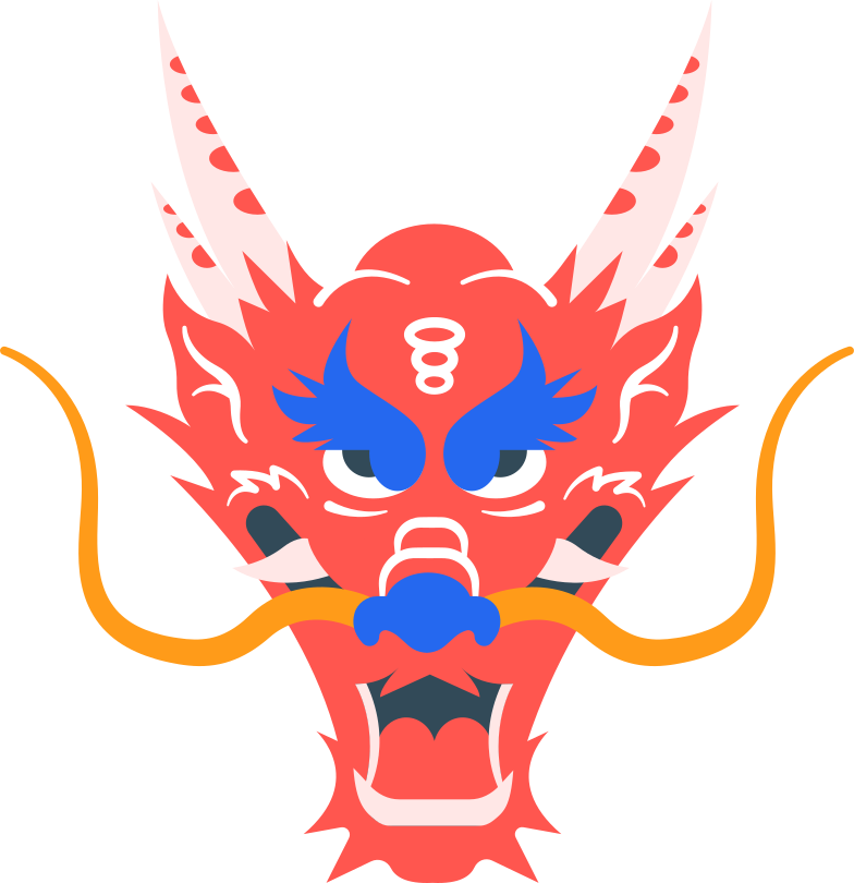 chinese dragon head Clipart illustration in PNG, SVG