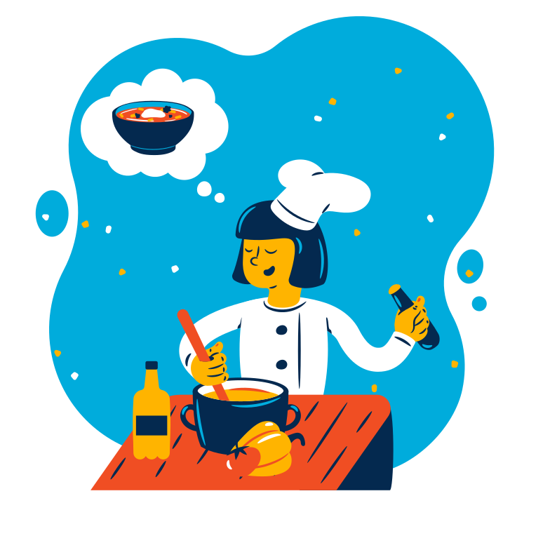 style Cook is making soup Vector images in PNG and SVG | Icons8 Illustrations