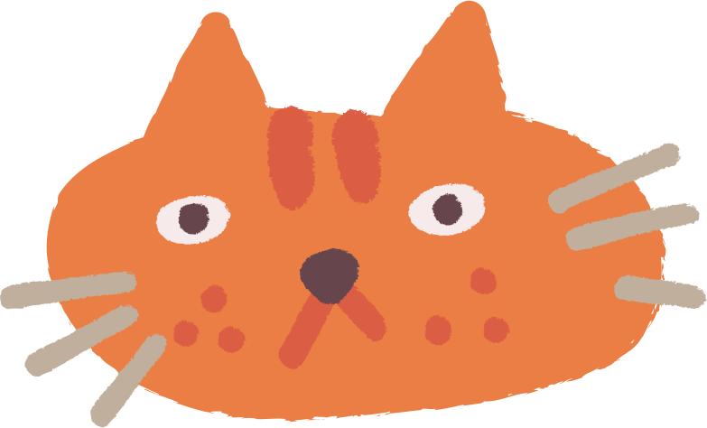 cat head Clipart illustration in PNG, SVG