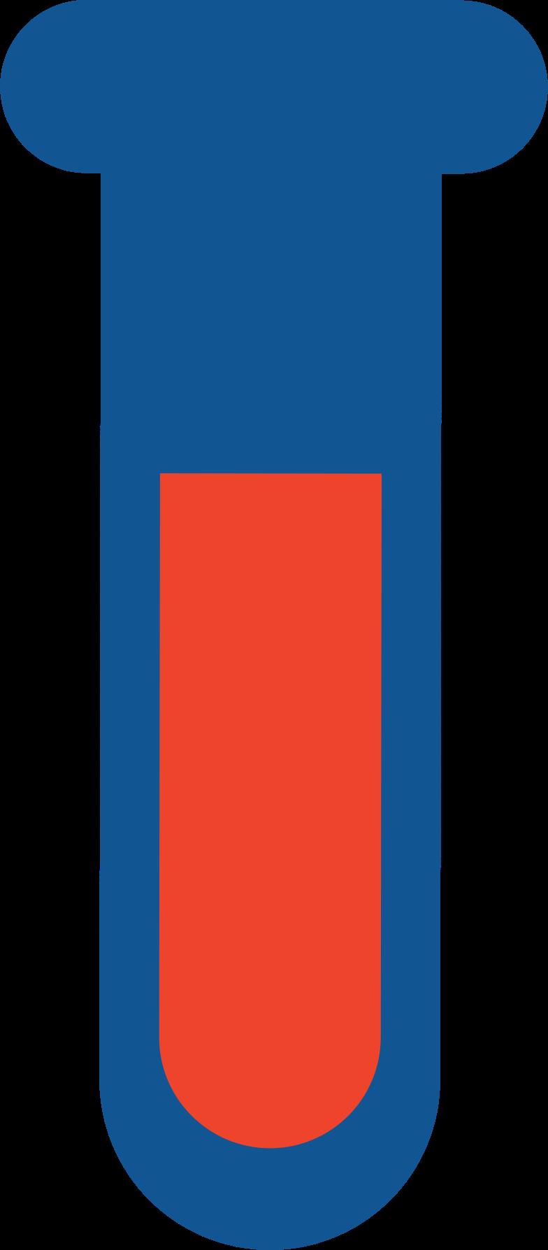 Tubo de ensaio de sangue Clipart illustration in PNG, SVG