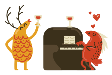 style Romantic evening images in PNG and SVG | Icons8 Illustrations