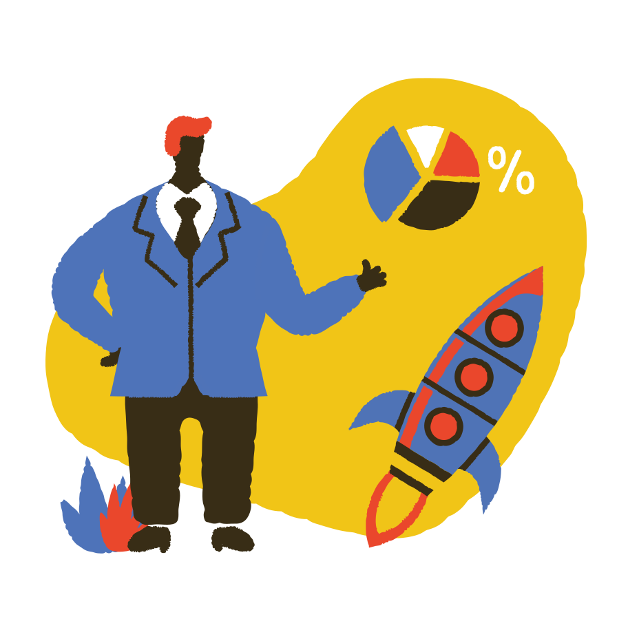 Presentation with graphics Clipart illustration in PNG, SVG