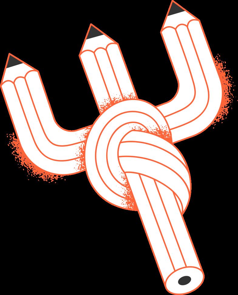 PNGとSVGの  スタイルの 接続が2本の鉛筆を失った ベクターイメージ | Icons8 イラスト