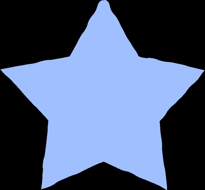 star light blue Clipart illustration in PNG, SVG