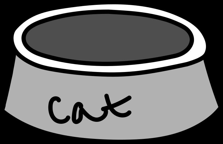 Ilustración de clipart de cuenco de gato en PNG, SVG