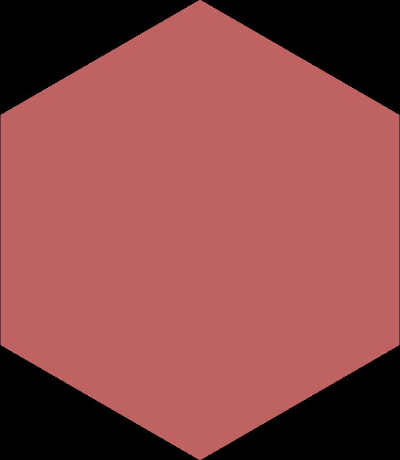hexagon burgundy Clipart illustration in PNG, SVG