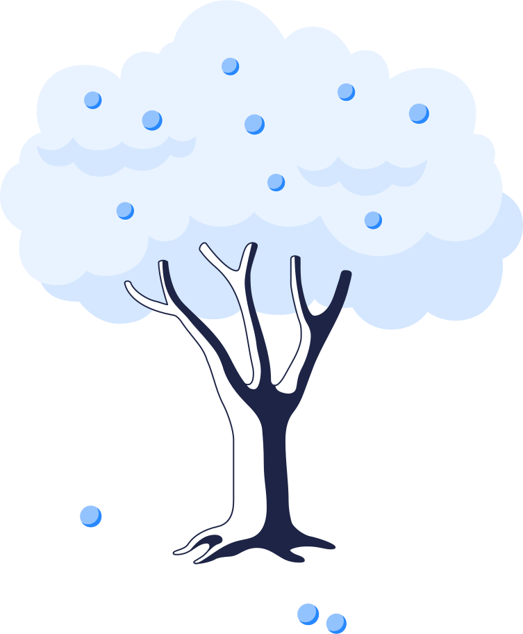 apple tree 1 line Clipart illustration in PNG, SVG
