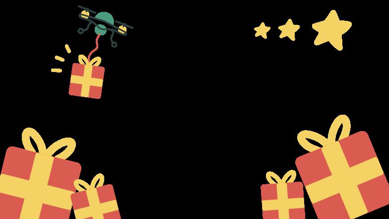 Gifts delivered Clipart illustration in PNG, SVG