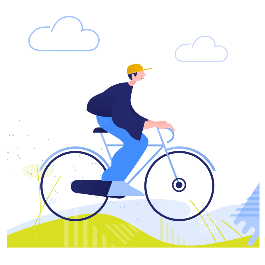 style Riding a bicycle Vector images in PNG and SVG   Icons8 Illustrations