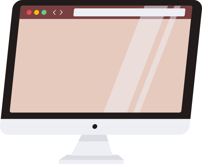 computer with browser Clipart illustration in PNG, SVG