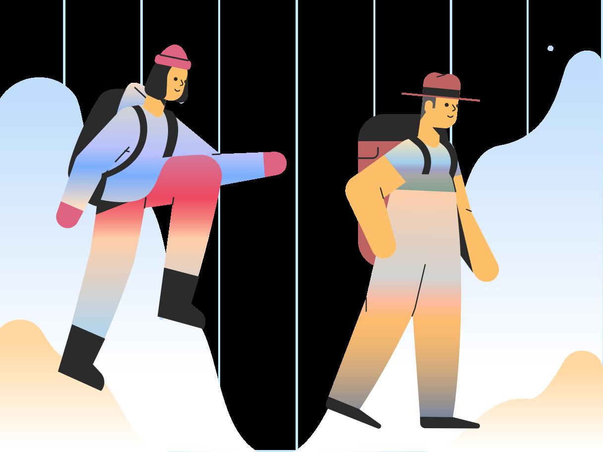 Hiking Clipart illustration in PNG, SVG