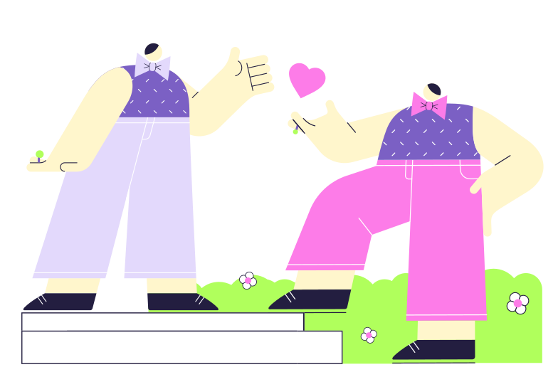 The beginning of a family Clipart illustration in PNG, SVG