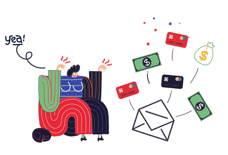 Email delivered Clipart illustration in PNG, SVG