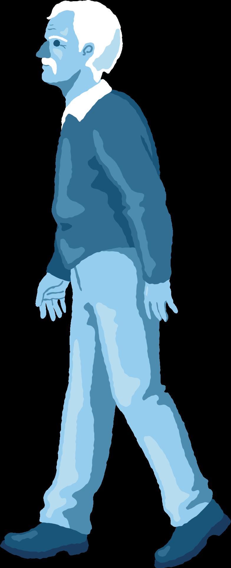 old man walking Clipart illustration in PNG, SVG