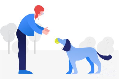 style Playing with dog images in PNG and SVG   Icons8 Illustrations