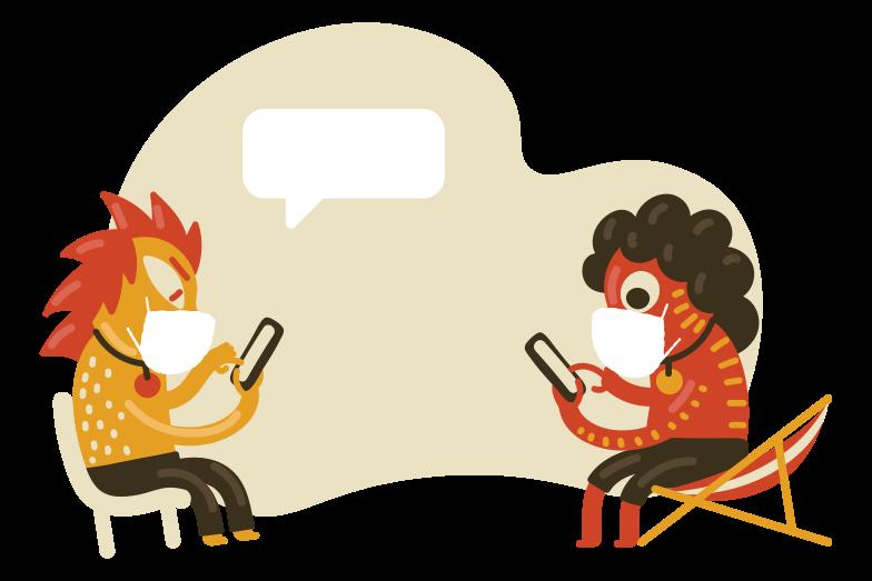 Illustration clipart communication numérique - communication sûre aux formats PNG, SVG