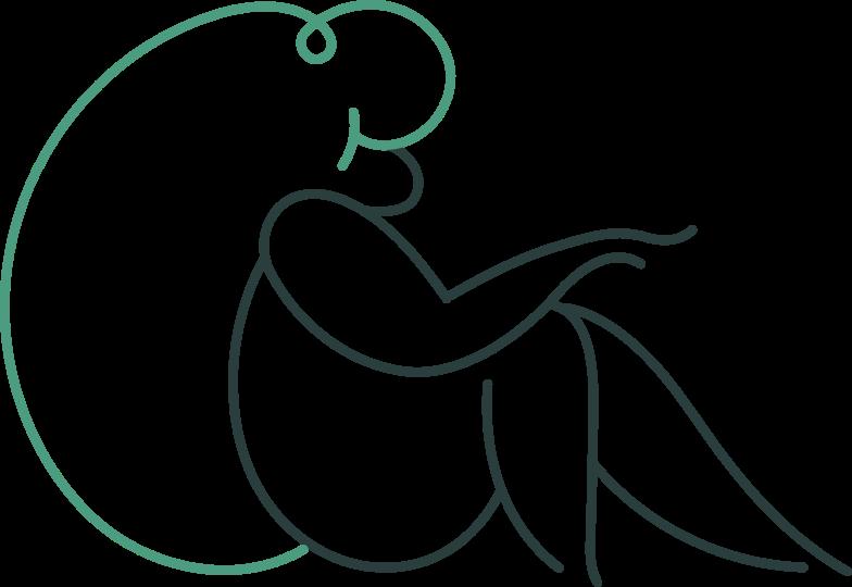 sitting girl Clipart illustration in PNG, SVG