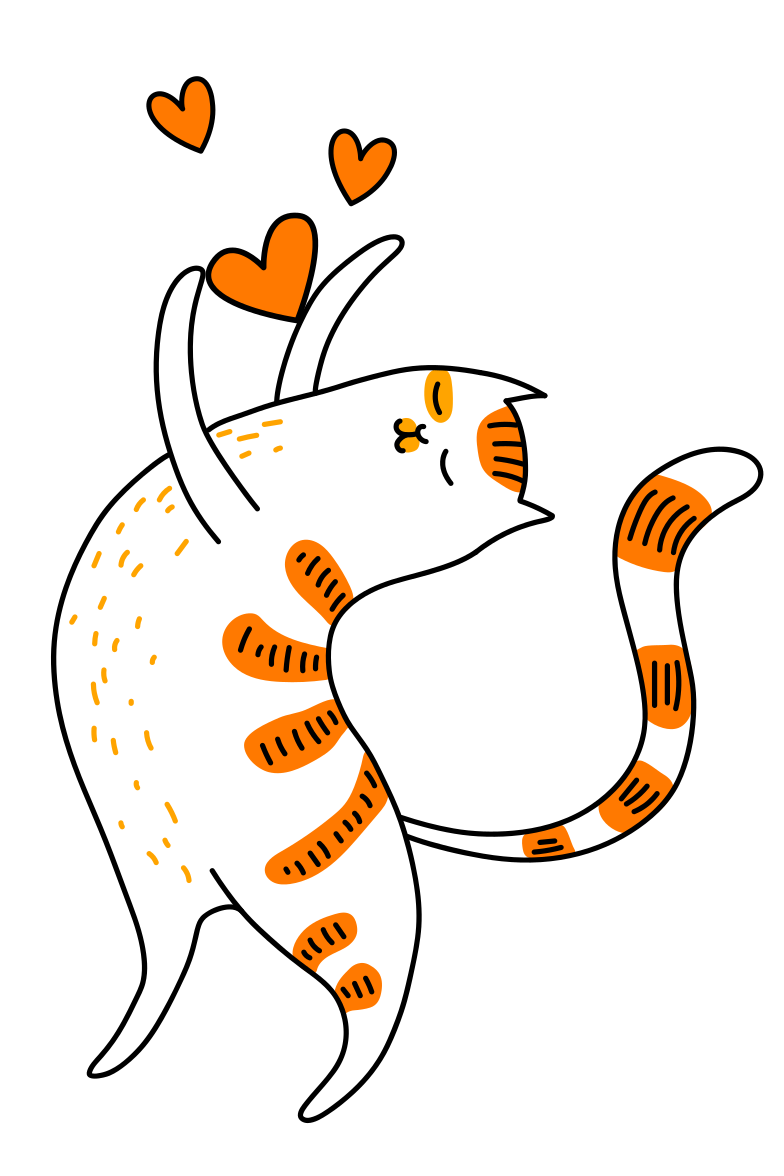 style Cat in love Vector images in PNG and SVG | Icons8 Illustrations