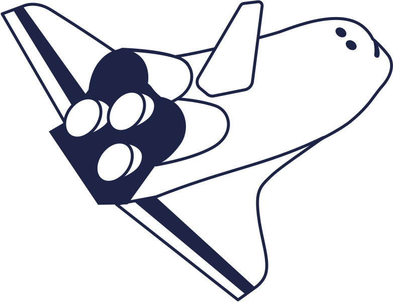 spaceship line Clipart illustration in PNG, SVG