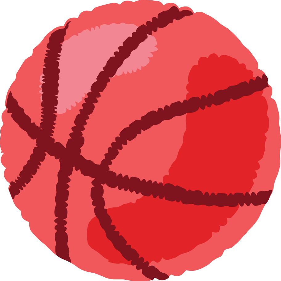 basketball-ball- Clipart illustration in PNG, SVG