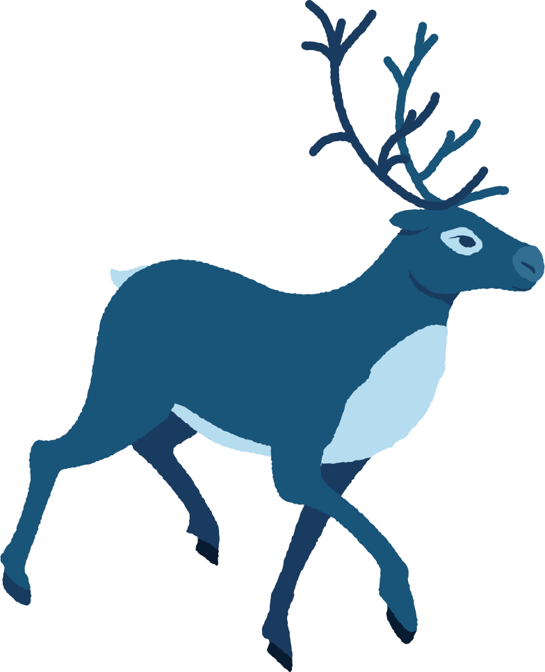 style reindeer running profile Vector images in PNG and SVG | Icons8 Illustrations