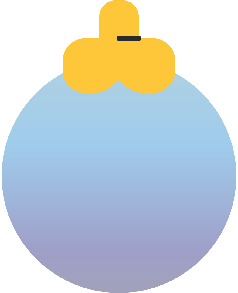 christmas ball blue Clipart illustration in PNG, SVG