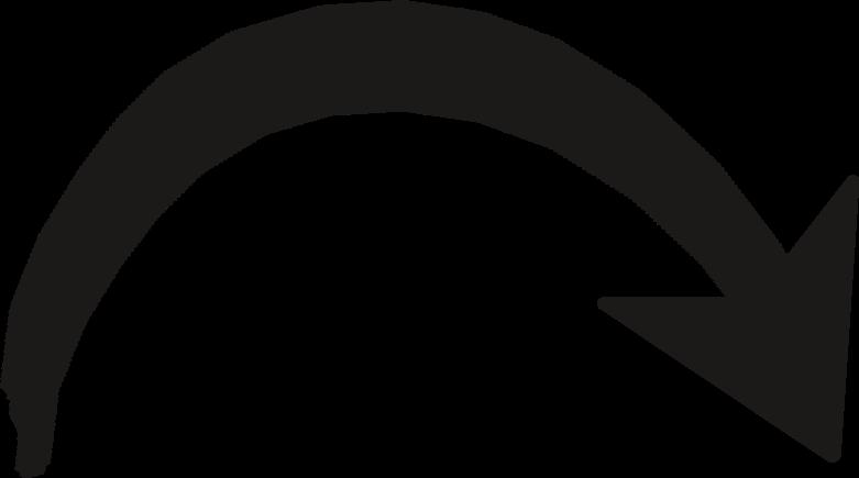 black arrow curve Clipart illustration in PNG, SVG