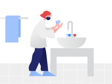 style Girl washes hands images in PNG and SVG | Icons8 Illustrations