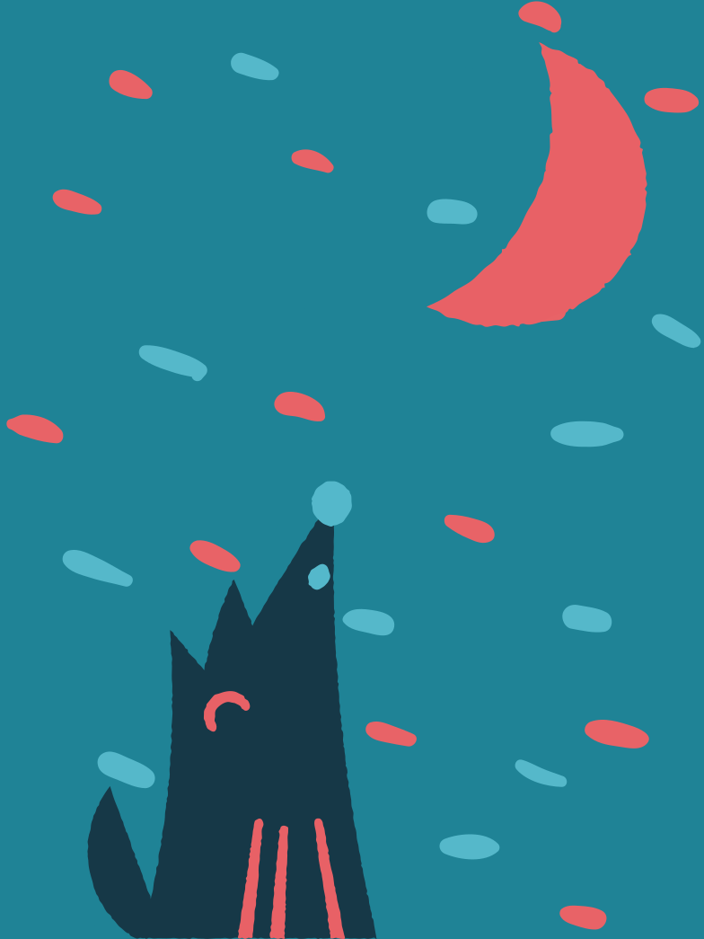 style Wolf and moon Vector images in PNG and SVG | Icons8 Illustrations