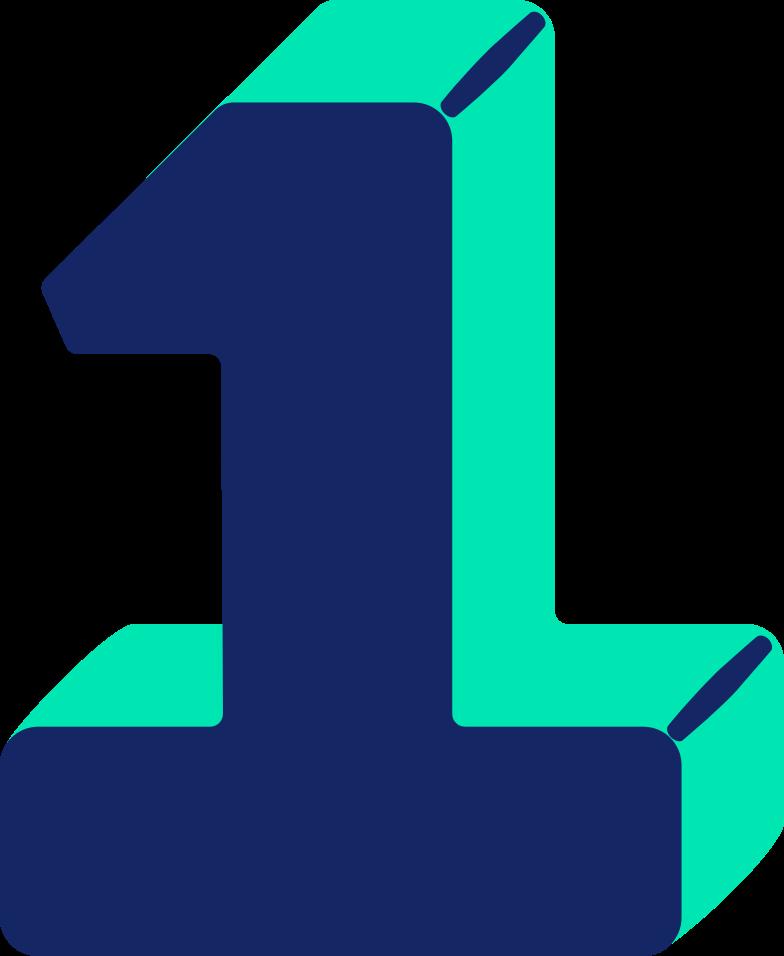 Immagine Vettoriale numero uno in PNG e SVG in stile  | Illustrazioni Icons8